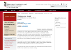 Business Law Society web-site snapshot