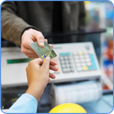 credit card payment ar point-of-sale