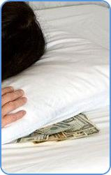 Keeping your money under pillow do not help improve credit score.